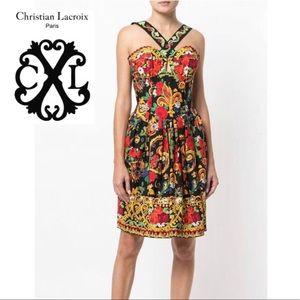 CHRISTIAN LACROIX Luxury 1980's Patterned Dress